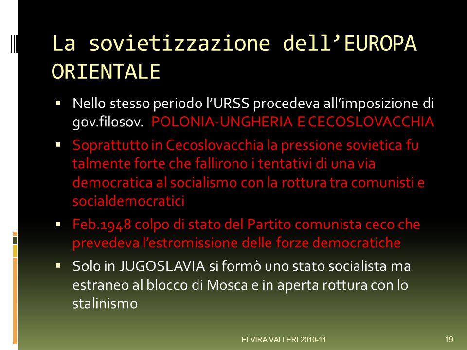 La sovietizzazione dell'EUROPA ORIENTALE