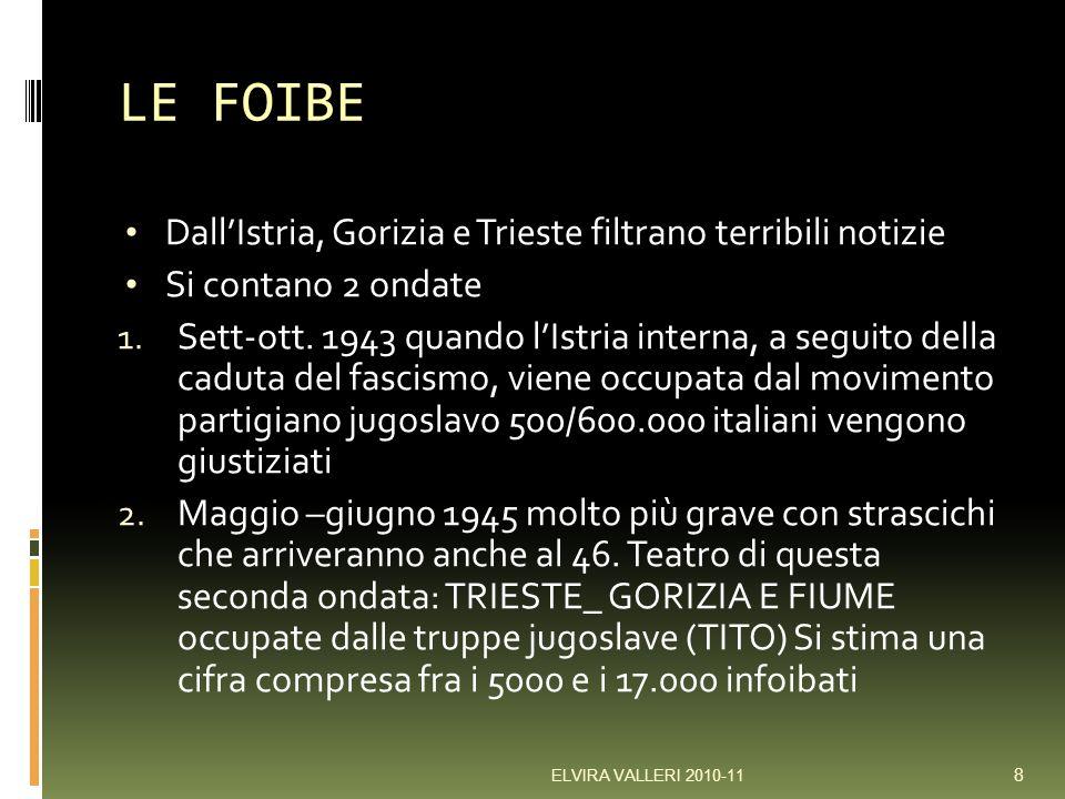 LE FOIBE Dall'Istria, Gorizia e Trieste filtrano terribili notizie