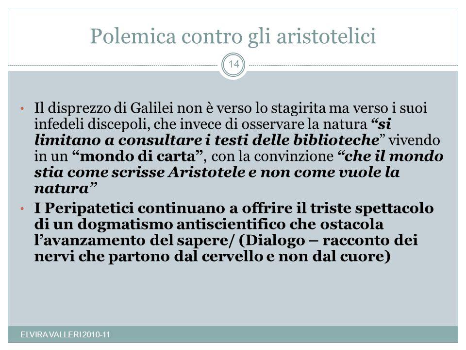 Polemica contro gli aristotelici