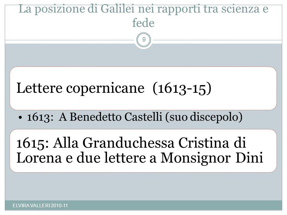 La posizione di Galilei nei rapporti tra scienza e fede