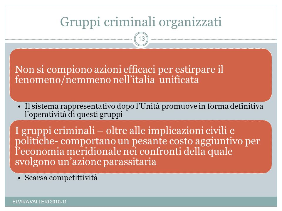 Gruppi criminali organizzati