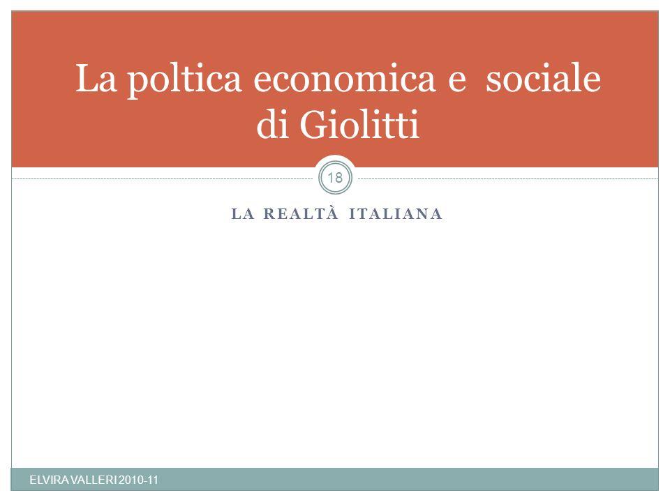 La poltica economica e sociale di Giolitti