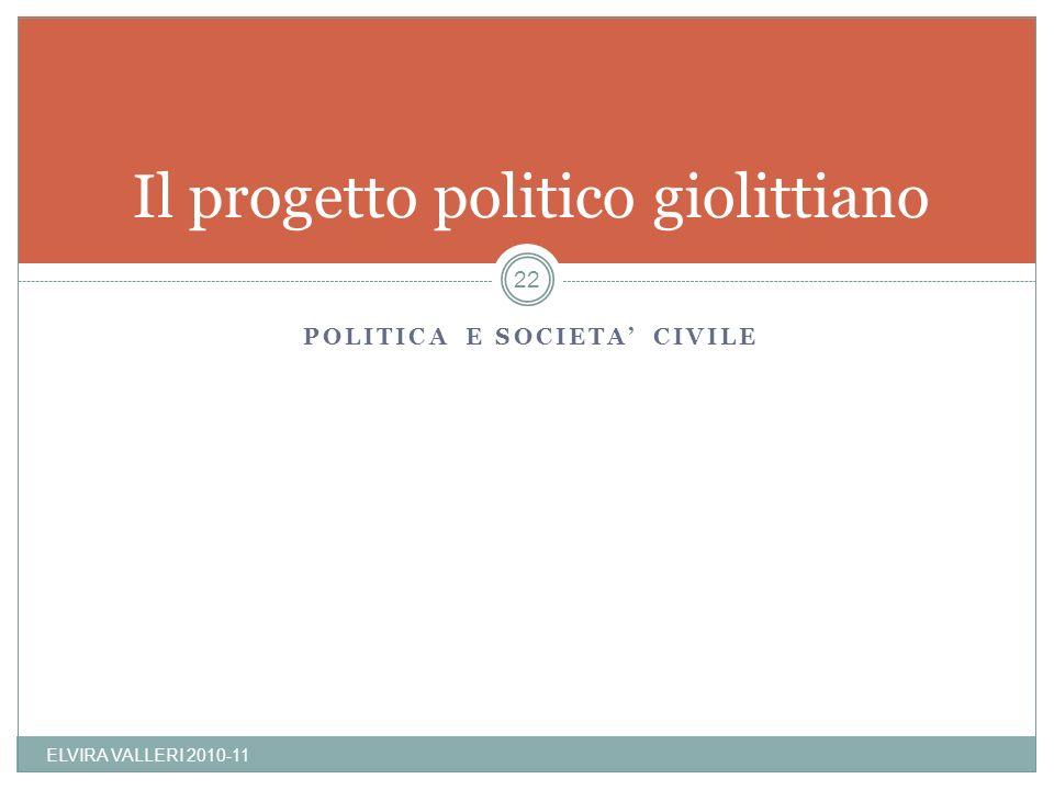 Il progetto politico giolittiano