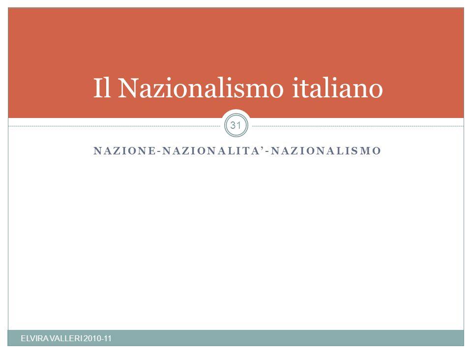 Il Nazionalismo italiano