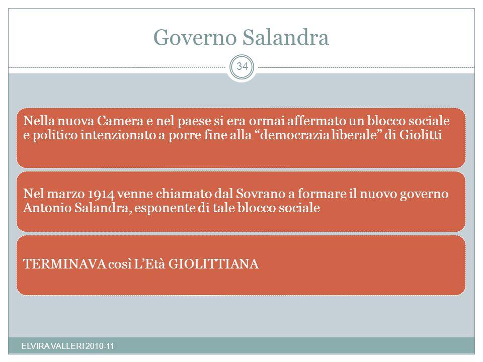 Governo Salandra ELVIRA VALLERI 2010-11