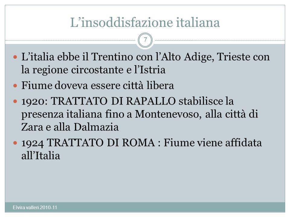L'insoddisfazione italiana