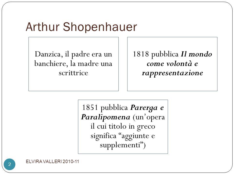 Arthur Shopenhauer ELVIRA VALLERI 2010-11