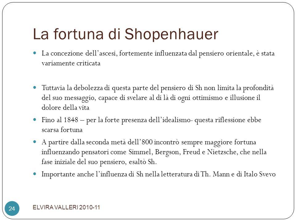 La fortuna di Shopenhauer