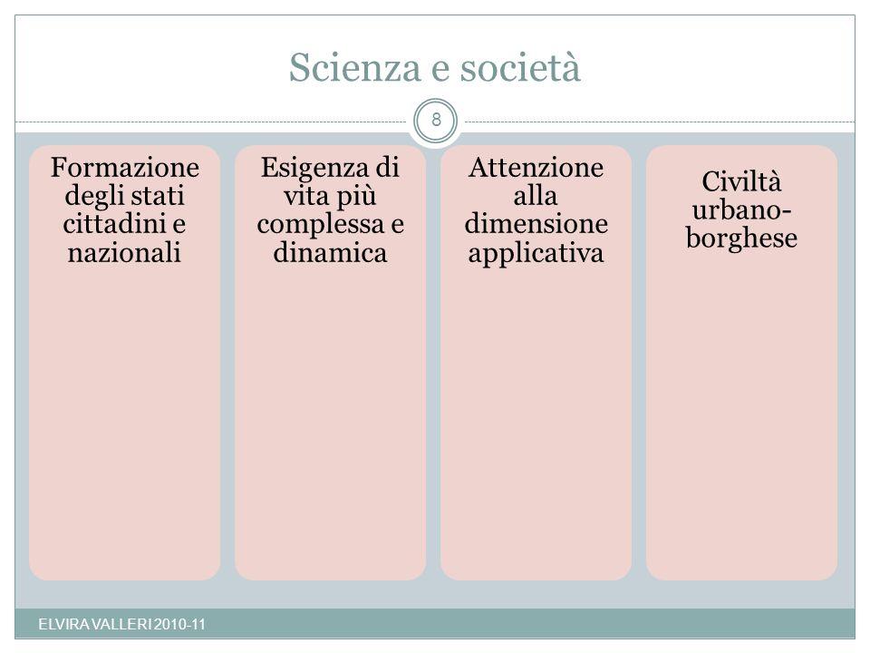 Scienza e società ELVIRA VALLERI 2010-11