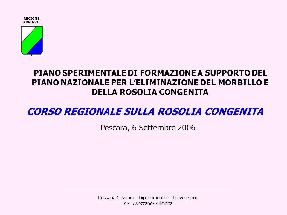 Rossana Cassiani - Dipartimento di Prevenzione ASL Avezzano-Sulmona