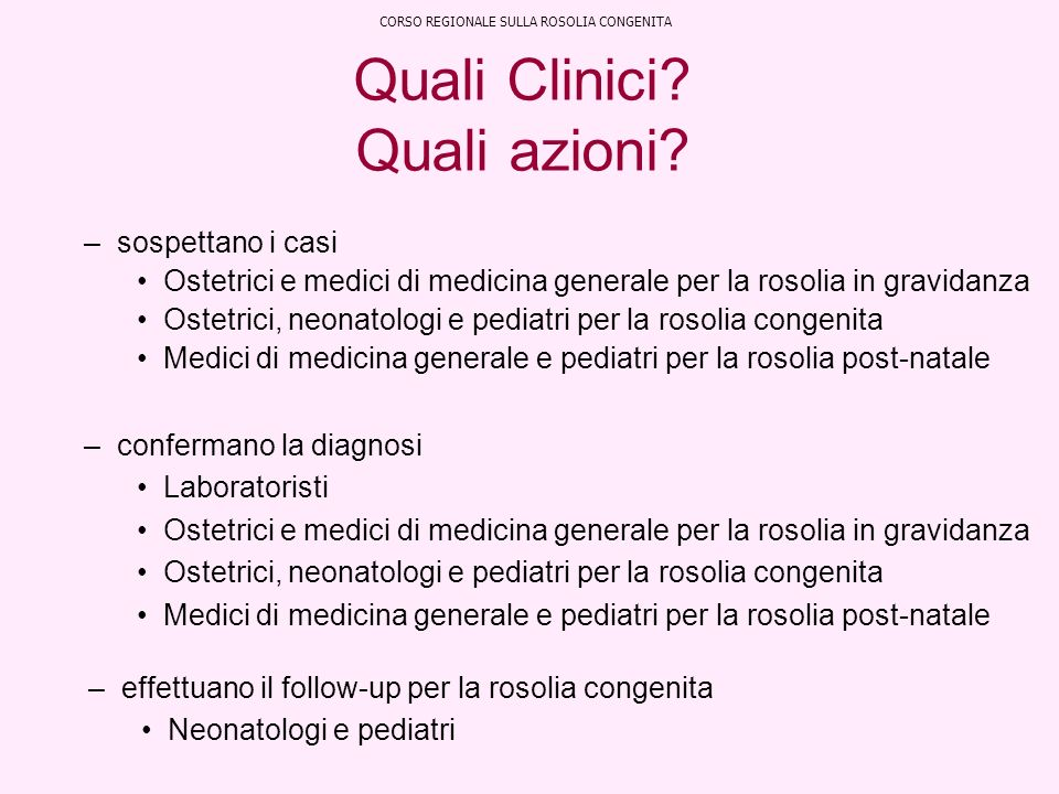 Quali Clinici Quali azioni