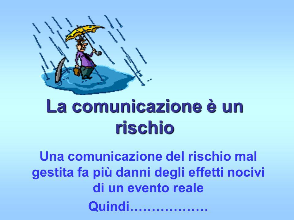 La comunicazione è un rischio