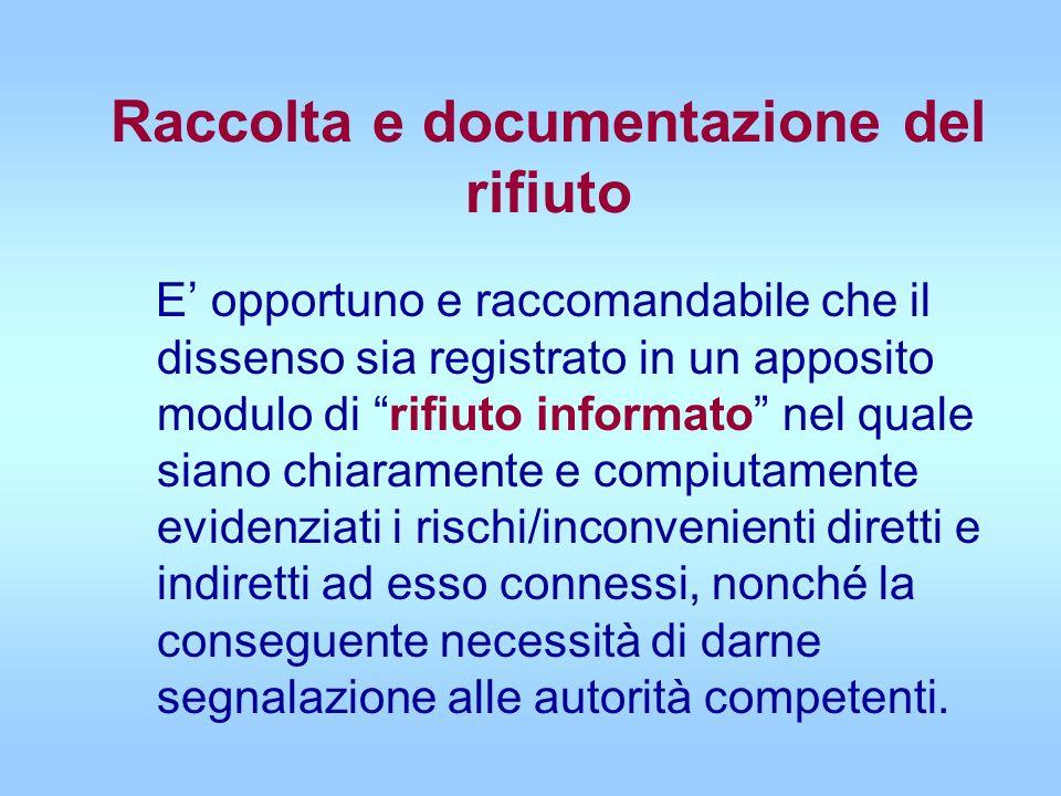 Raccolta e documentazione del rifiuto