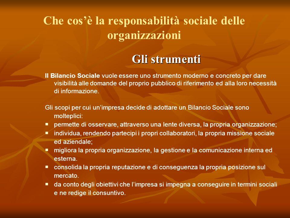 Che cos'è la responsabilità sociale delle organizzazioni