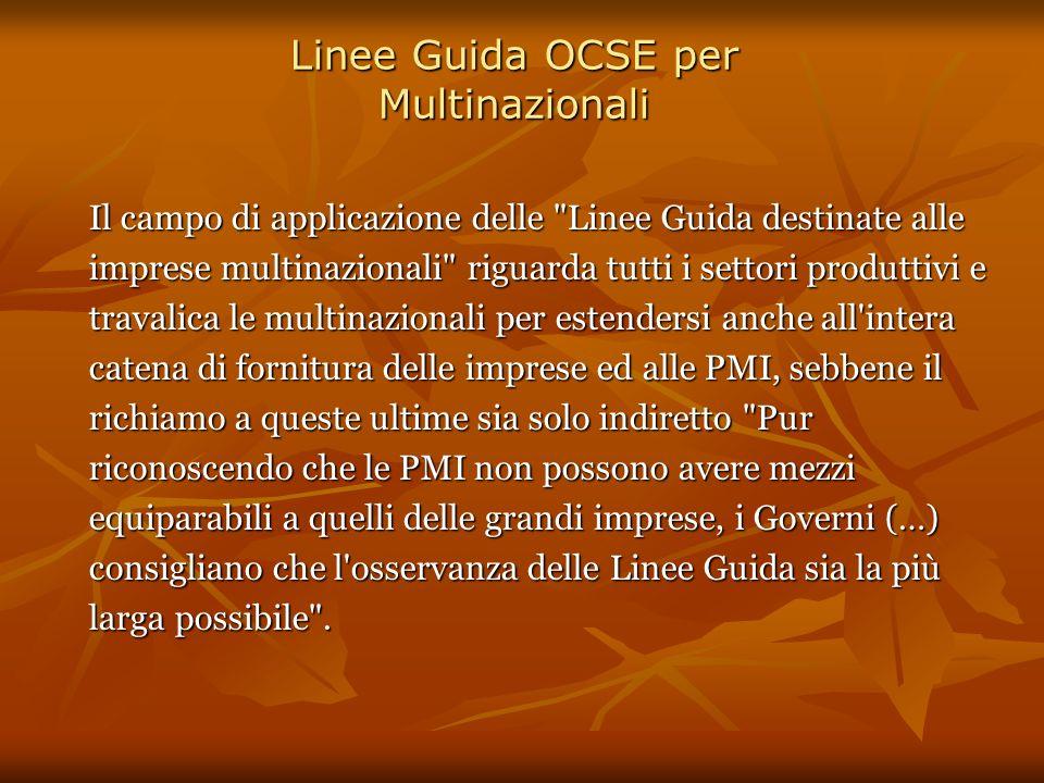 Linee Guida OCSE per Multinazionali