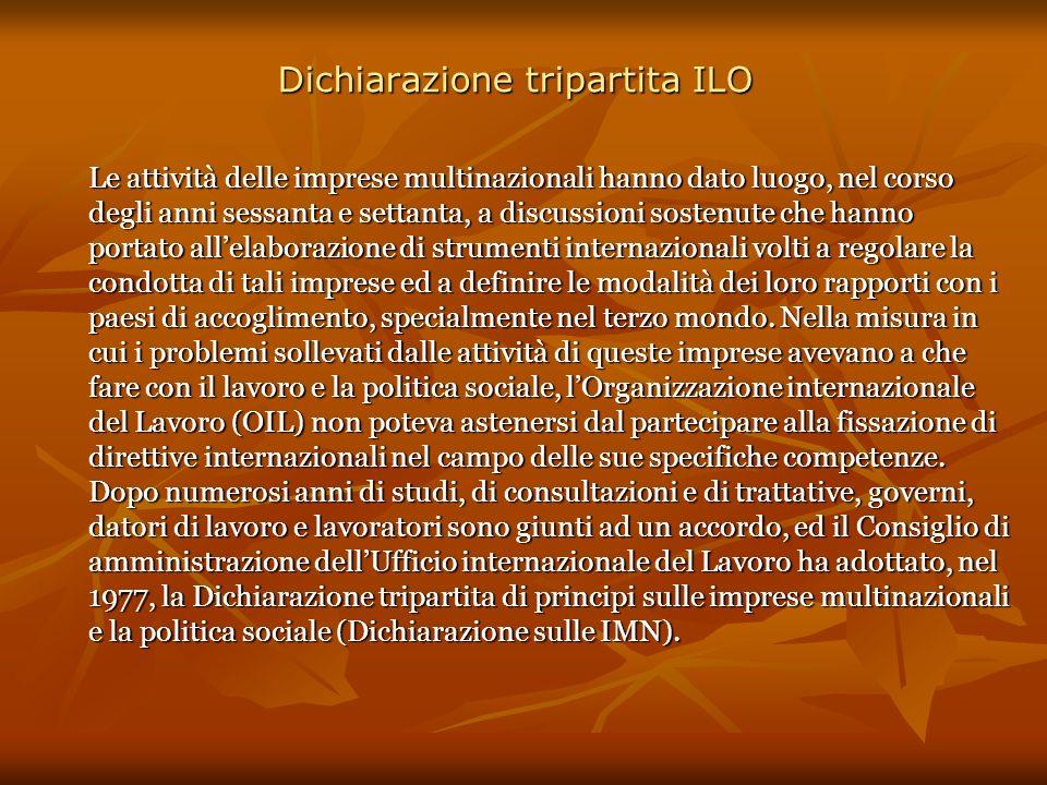 Dichiarazione tripartita ILO