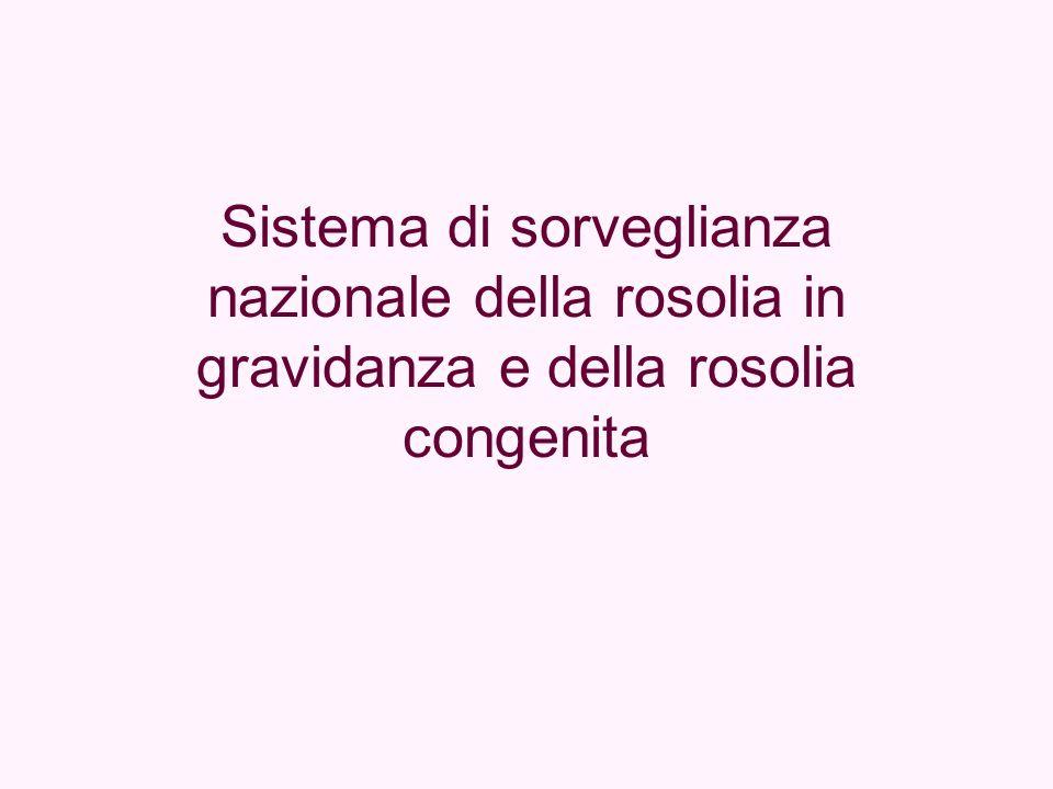 Sistema di sorveglianza nazionale della rosolia in gravidanza e della rosolia congenita