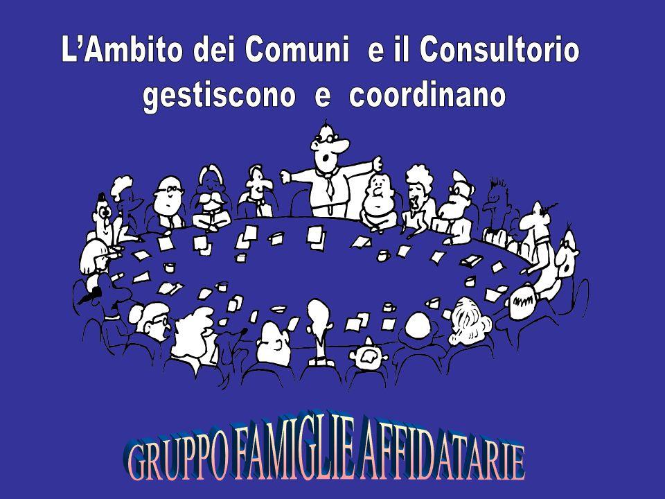 L'Ambito dei Comuni e il Consultorio gestiscono e coordinano