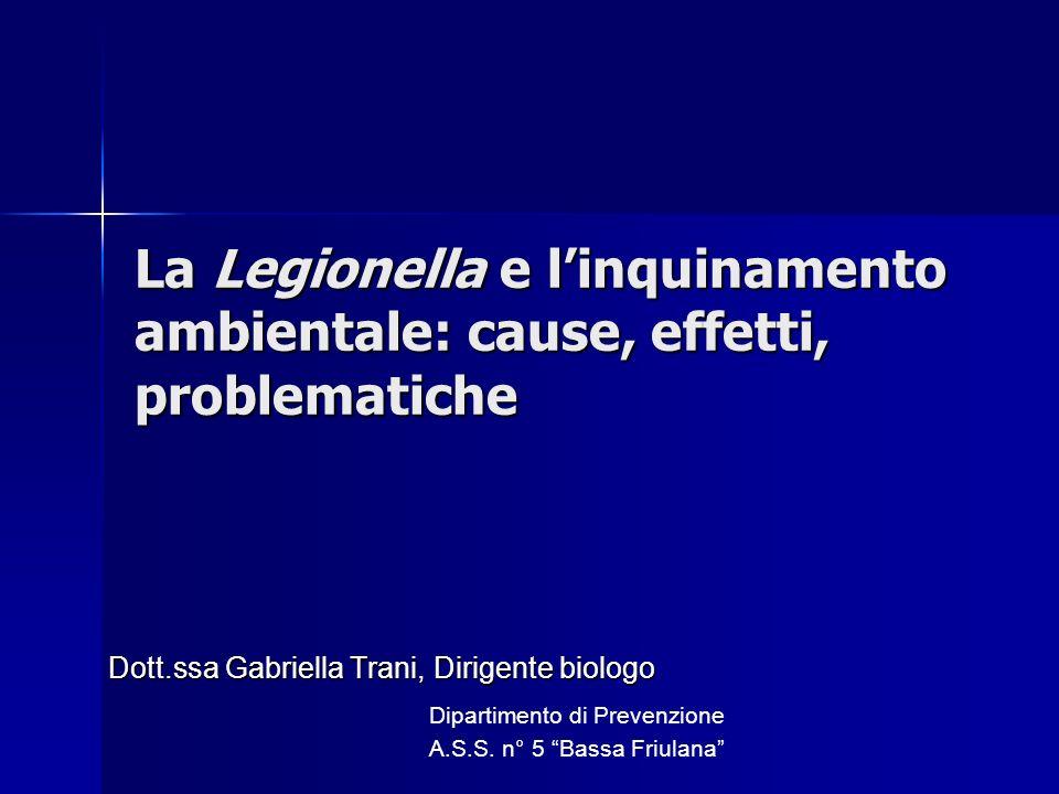Dott.ssa Gabriella Trani, Dirigente biologo