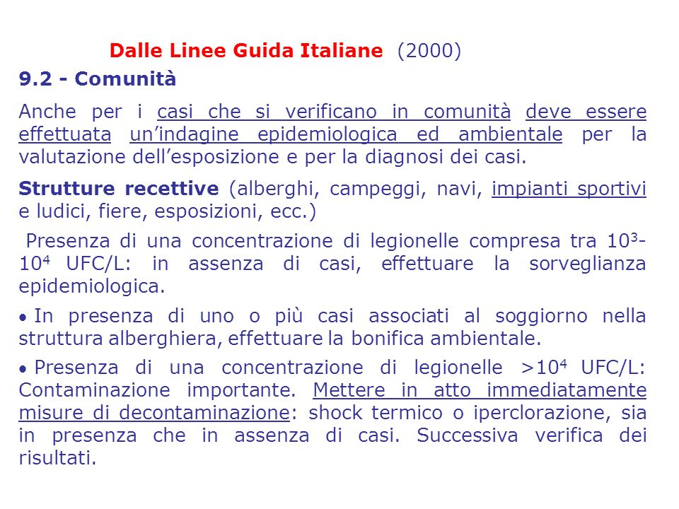 Dalle Linee Guida Italiane (2000)