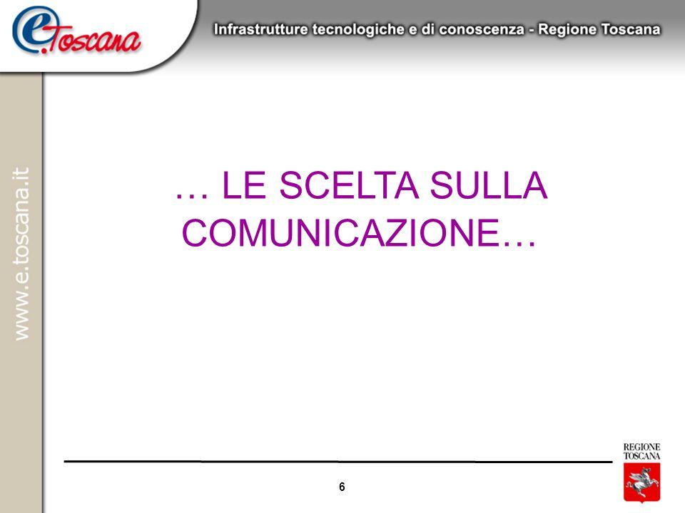 18/06/08 … LE SCELTA SULLA COMUNICAZIONE…