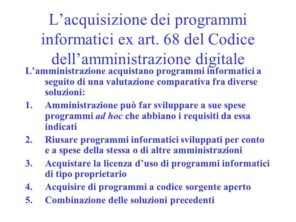 L'acquisizione dei programmi informatici ex art