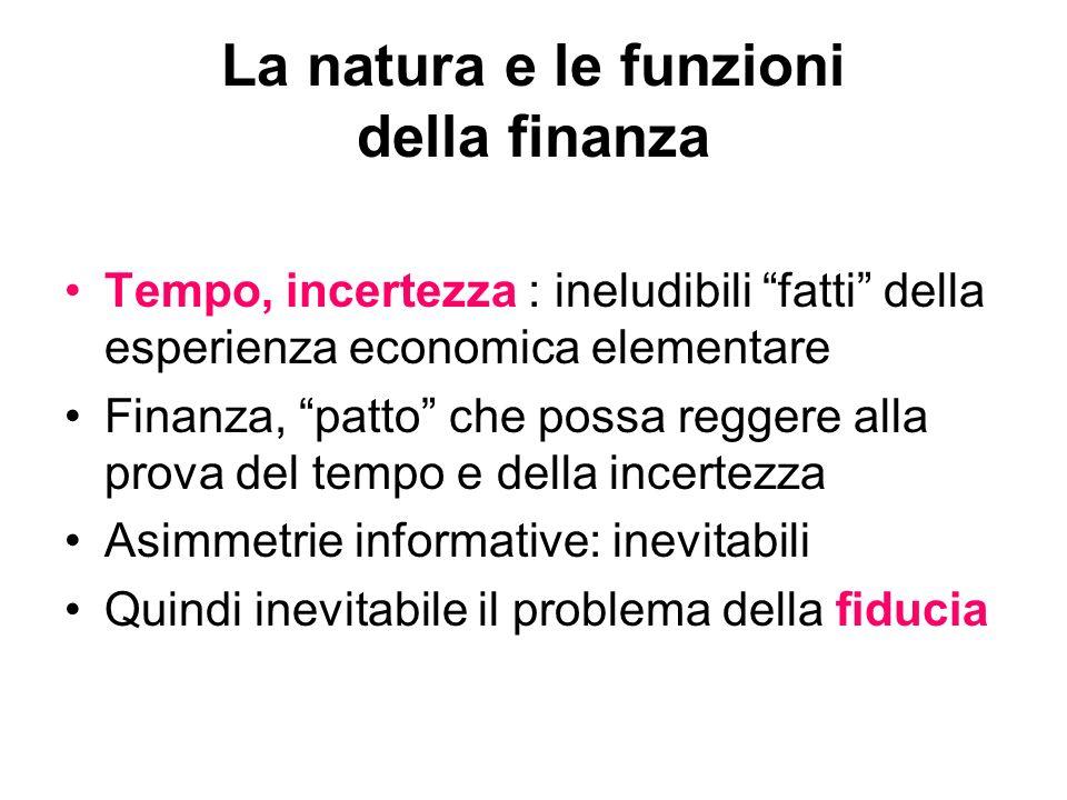 La natura e le funzioni della finanza