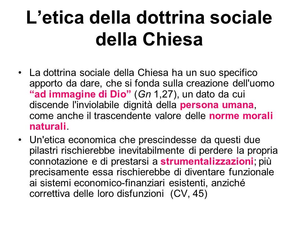L'etica della dottrina sociale della Chiesa