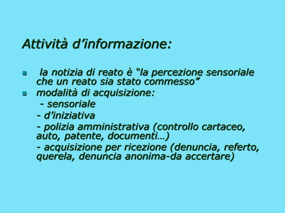 Attività d'informazione: