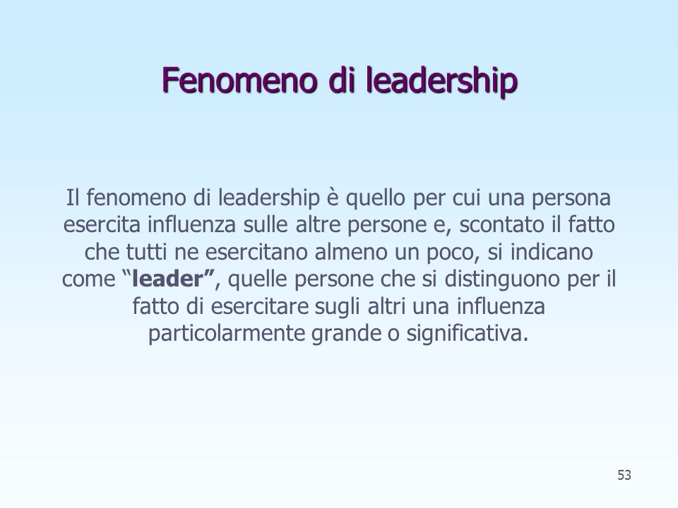 Fenomeno di leadership