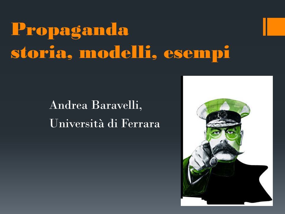 Propaganda storia, modelli, esempi