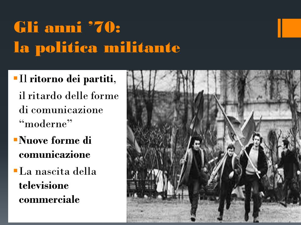 Gli anni '70: la politica militante