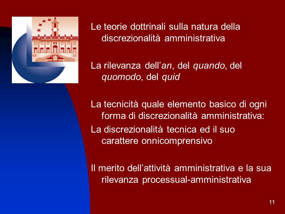 Le teorie dottrinali sulla natura della discrezionalità amministrativa