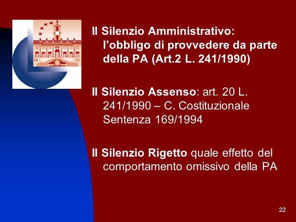 Il Silenzio Amministrativo: l'obbligo di provvedere da parte della PA (Art.2 L. 241/1990)