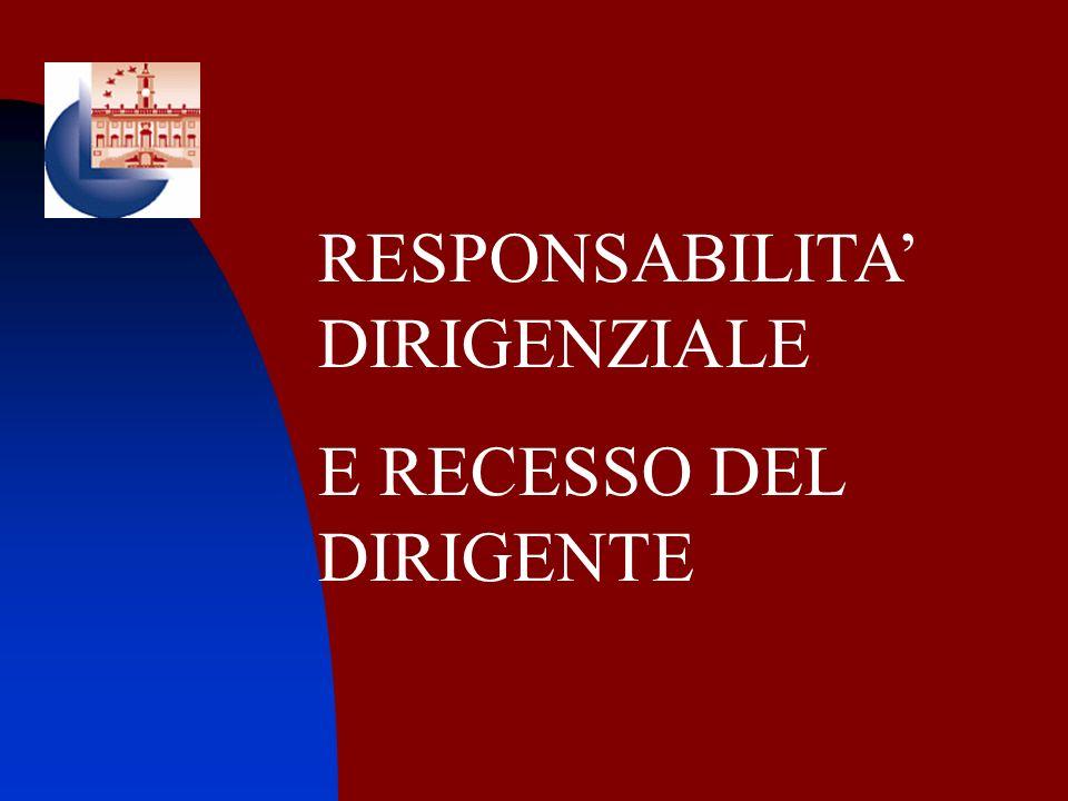 RESPONSABILITA' DIRIGENZIALE