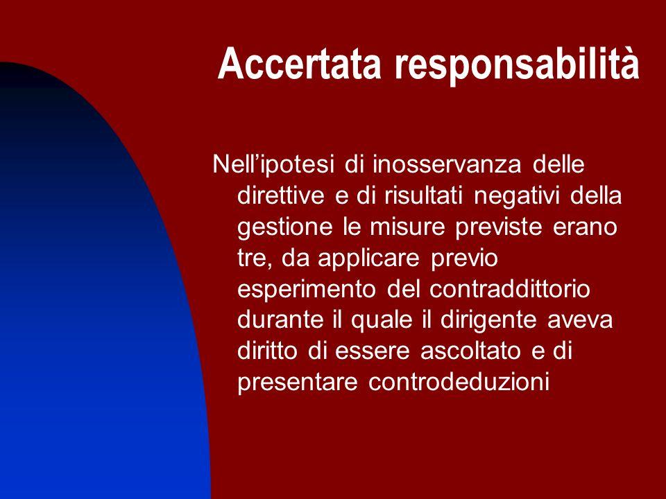 Accertata responsabilità