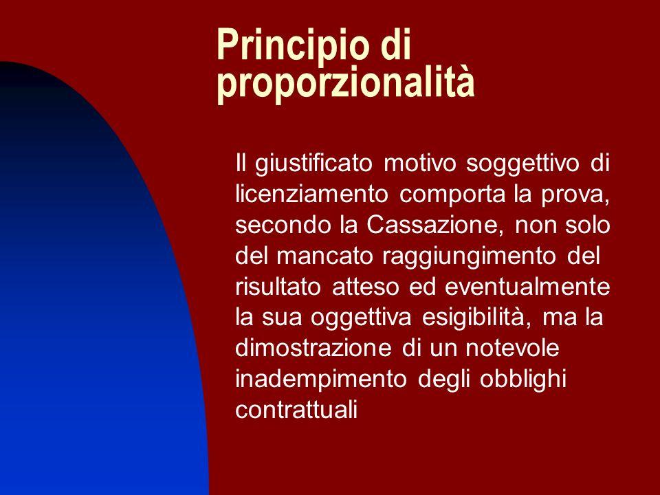 Principio di proporzionalità