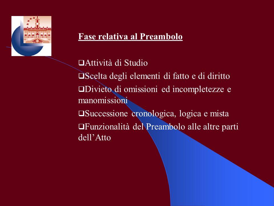 Fase relativa al Preambolo