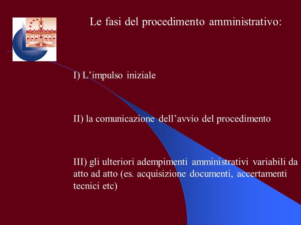 Le fasi del procedimento amministrativo:
