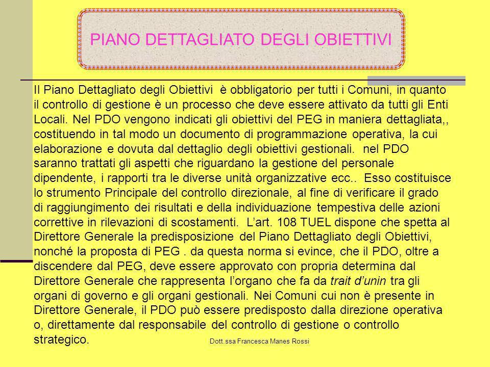 PIANO DETTAGLIATO DEGLI OBIETTIVI