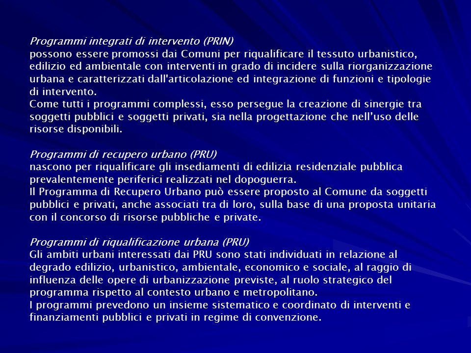 Programmi integrati di intervento (PRIN)