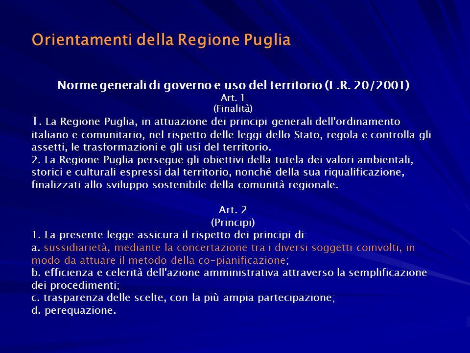 Norme generali di governo e uso del territorio (L.R. 20/2001)
