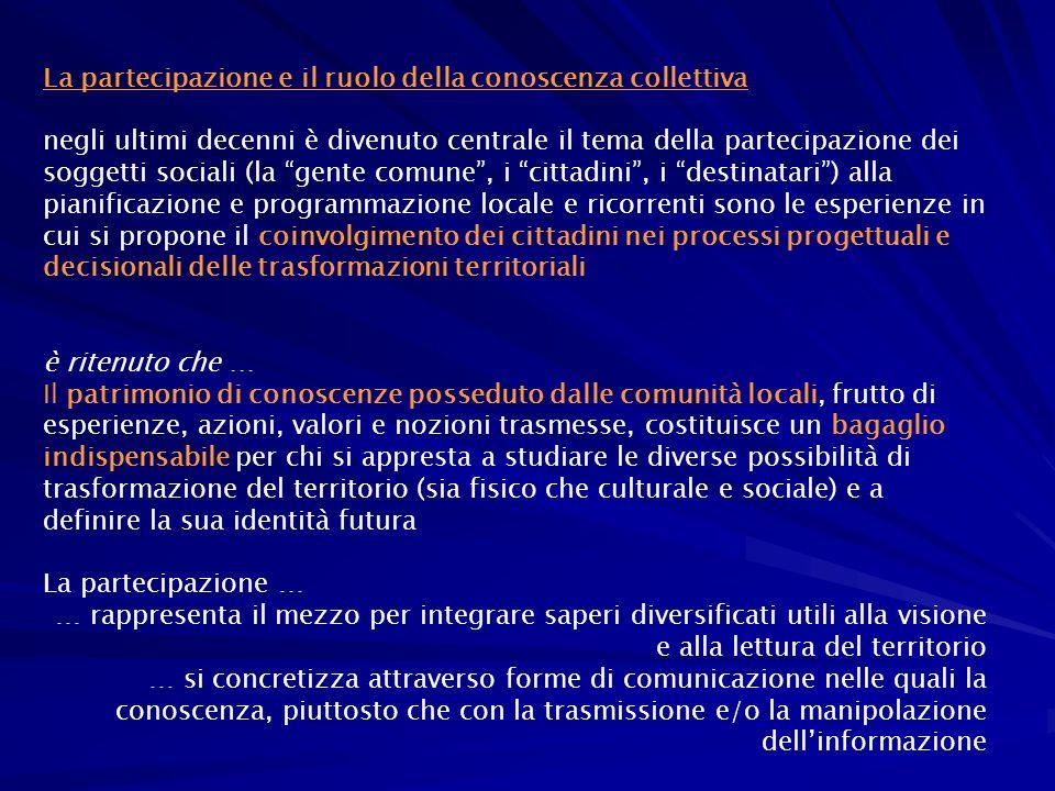 La partecipazione e il ruolo della conoscenza collettiva