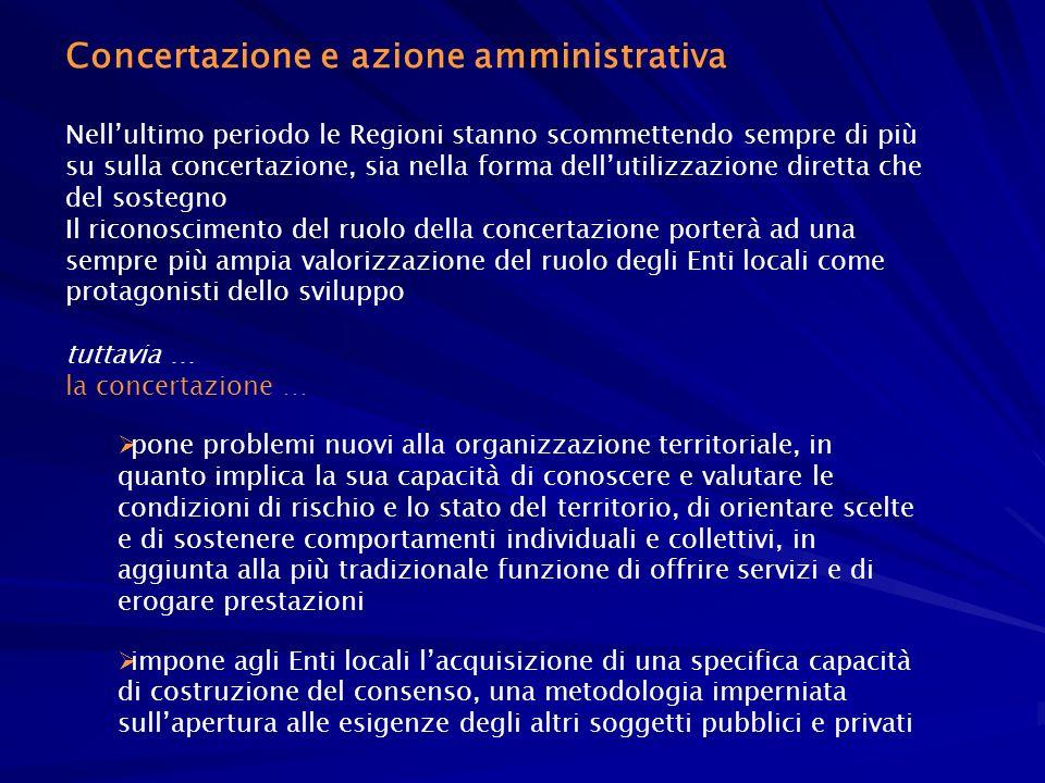 Concertazione e azione amministrativa
