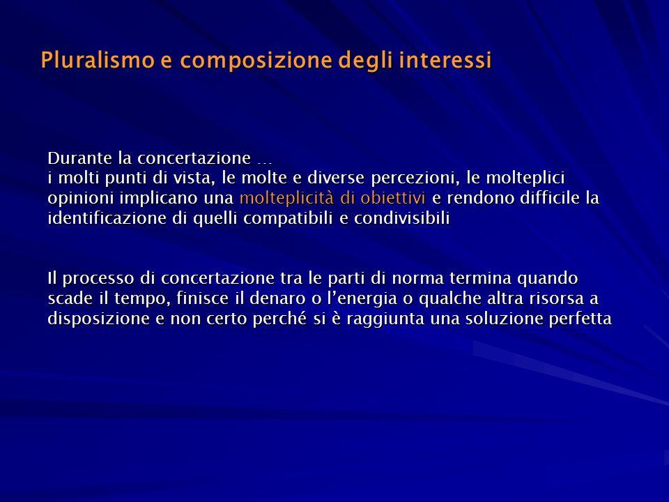 Pluralismo e composizione degli interessi