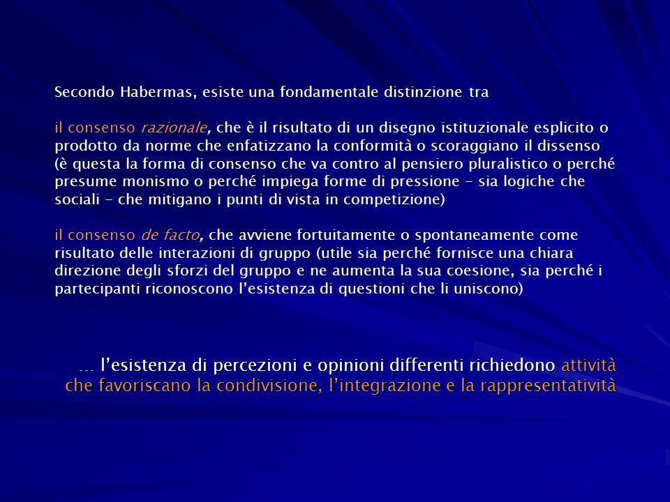 Secondo Habermas, esiste una fondamentale distinzione tra