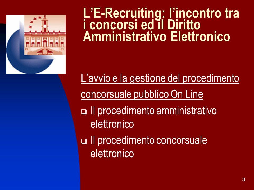 L'E-Recruiting: l'incontro tra i concorsi ed il Diritto Amministrativo Elettronico