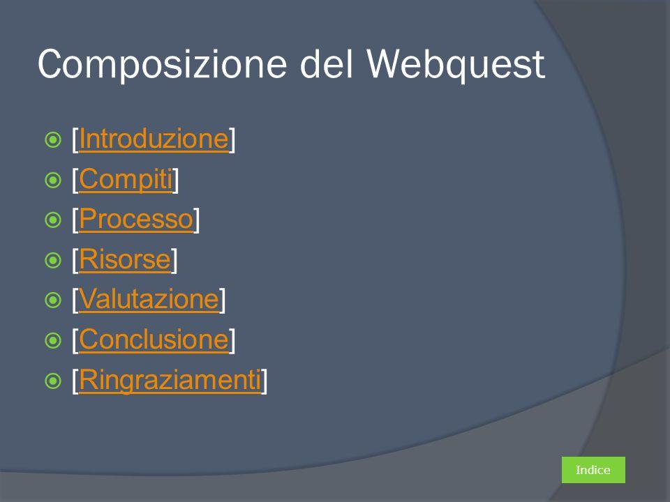 Composizione del Webquest