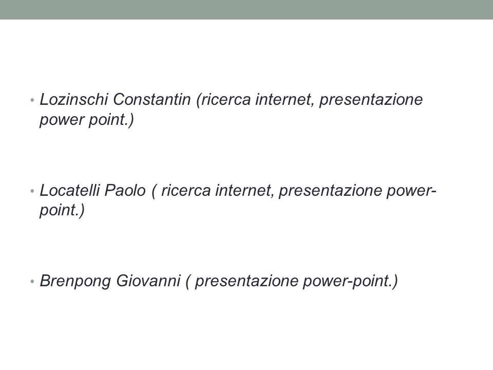 Lozinschi Constantin (ricerca internet, presentazione power point.)