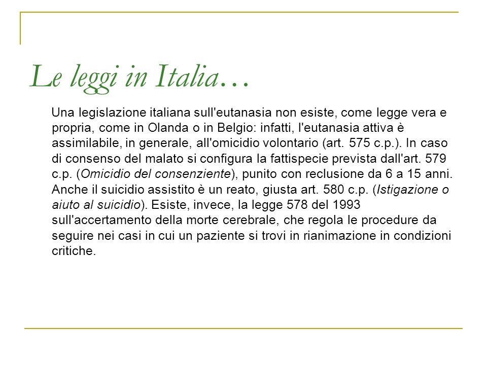 Le leggi in Italia…